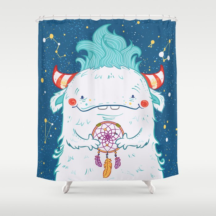 Flossy The Dreamcatcher Shower Curtain By Dariadanilova