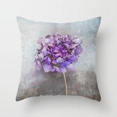 Beautiful Lilac Hydrangea Throw Pillow