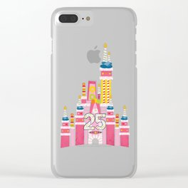 25th Birthday Magic Cake Castle Clear iPhone Case