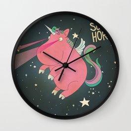 Super Horse... Unicorn Dreams. Wall Clock