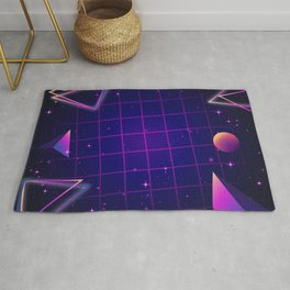 Universe Future Synthwave Aesthetic Rug