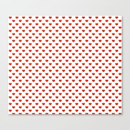 '80s Hearts - Red 2 - Back to Basics Canvas Print