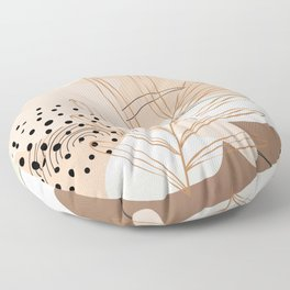 Abstract in Muted tones Floor Pillow
