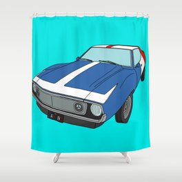 Very Frenchy Classic Car Shower Curtain