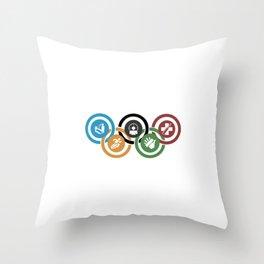 Zombie rings! Throw Pillow