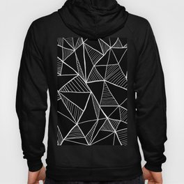 Black and white pyramid pattern Hoody