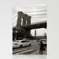 brooklyn bridge Stationery Cards featuring Brooklyn Bridge by Grace