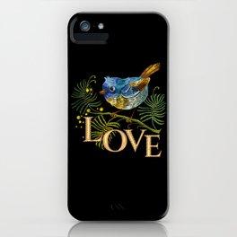 Love Bird Embroidery iPhone Case