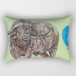 Buffalo with balloon Rectangular Pillow