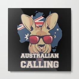 Australia Saying Kangaroo Metal Print