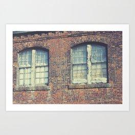 Old Mill Windows Art Print