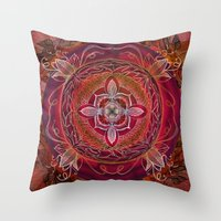 chakra Throw Pillows featuring Root Chakra by brenda erickson