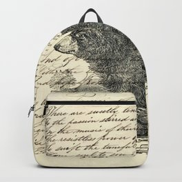 rustic cabin  woodland animal mountain forest grizzly bear Backpack