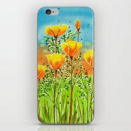 California Poppies iPhone Skin