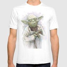 Yoda MEDIUM Mens Fitted Tee White