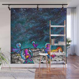 Space Chickens Wall Mural
