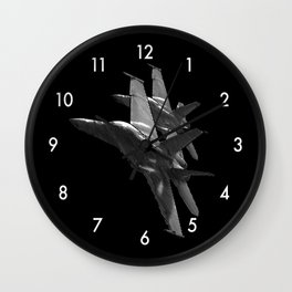 US Military Fighter Attack Jets Wall Clock