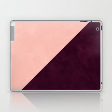 Modern blush pink burgundy watercolor color block geometric Laptop & iPad Skin