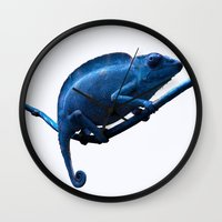 chameleon Wall Clocks featuring Chameleon by DistinctyDesign