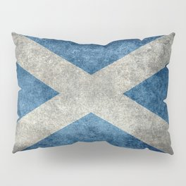 Flag of Scotland in grungy textures Pillow Sham