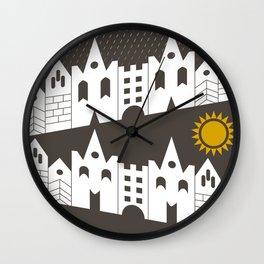 houses Wall Clock