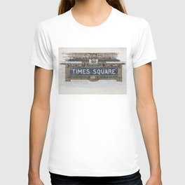Times Square Subway New York, Tile Mosaic Sign T-shirt
