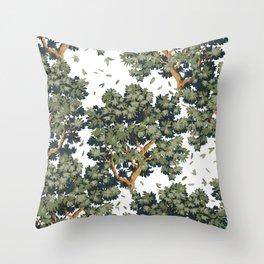 Sylvan Breeze, natural Throw Pillow