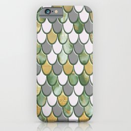 Oceanic Green Pink Gold Mermaid Scales FHLVLB SD iPhone Case