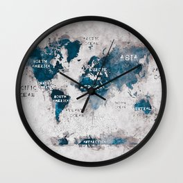 world map 13 #worldmap #map #world Wall Clock