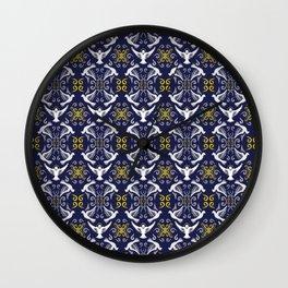 Doves Patterns Wall Clock