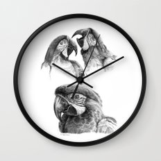 Macaw study SK0114 Wall Clock