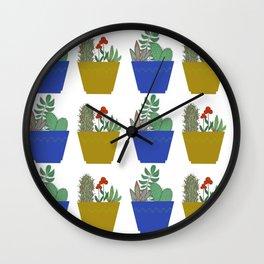 Blooming Cacti Wall Clock
