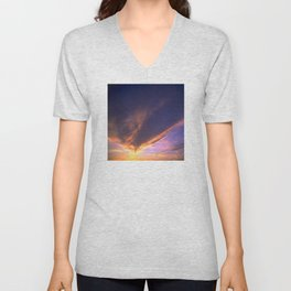 Ominous Cloud: Looking for Rays of Hope Unisex V-Neck