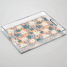 Just Peachy Floral Acrylic Tray