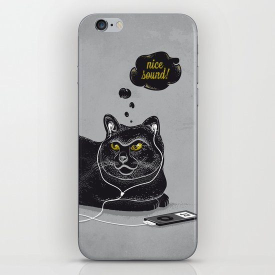 Chilling Cat iPhone & iPod Skin