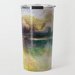 Watercolor Landscape Early Morning Travel Mug