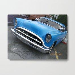 blue car Metal Print