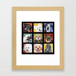 Dog Dog Dog Framed Art Print