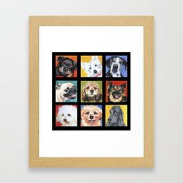 Dog Dog Dog Framed Art Print