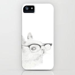 Study Bunny iPhone Case