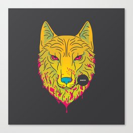The Unbridled Anger of a Decapitated Direwolf Canvas Print