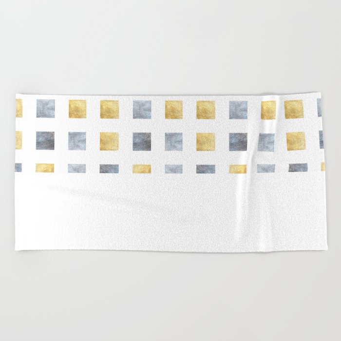Metallic mosaic Beach Towel