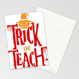 Halloween Shirt Gift for Teachers Funny Stationery Cards