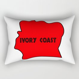 Ivory Coast Red Silhouette Rectangular Pillow