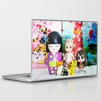 kawaii Laptop & iPad Skins featuring kawaii by Pissova