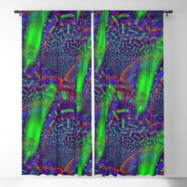 Disco Tech Psychedelic Blackout Curtain
