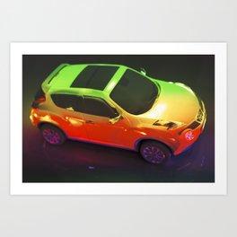RAINBOW CAR Art Print
