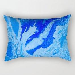 Fluid Blue Rectangular Pillow