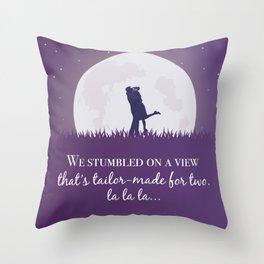La la land movie phrase moon love Throw Pillow