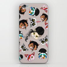 Pop Cats - Pattern French Gray Grey iPhone Skin
